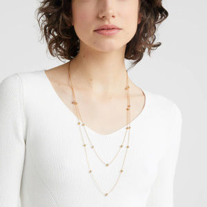 J Crew Long Layered Necklace